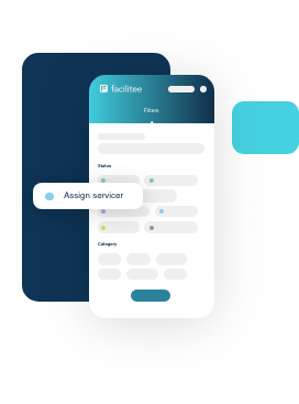 Facilitee software mobile, overview filters