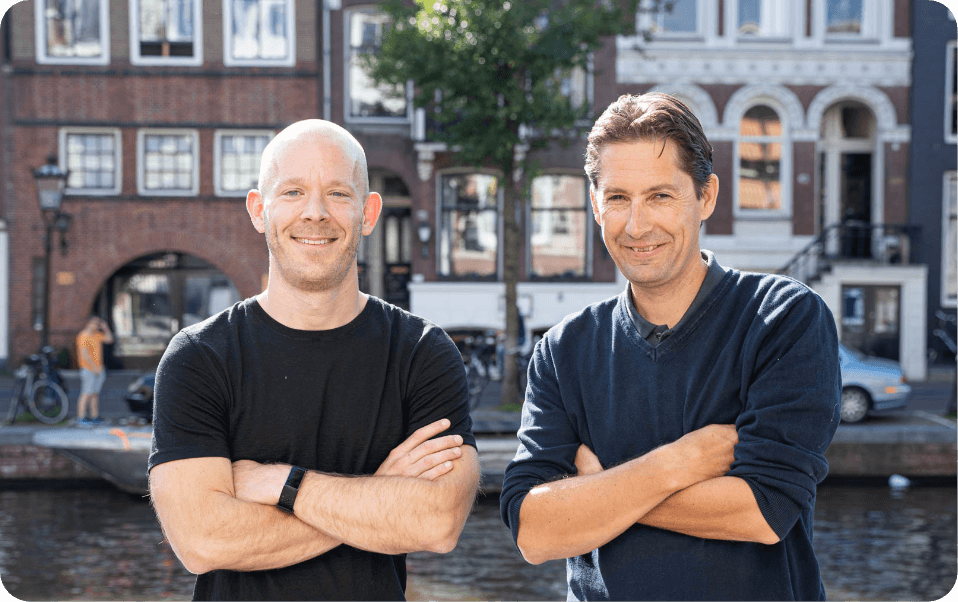 Sikke Kooistra and Eduard Schellart, founders of Facilitee